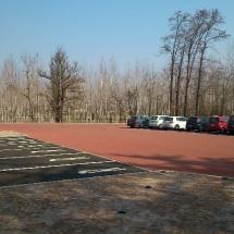 Nuovo parcheggio e reception area uffici